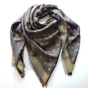 Louis Vuitton Oversize Scarf Shawl- So Shine Brown